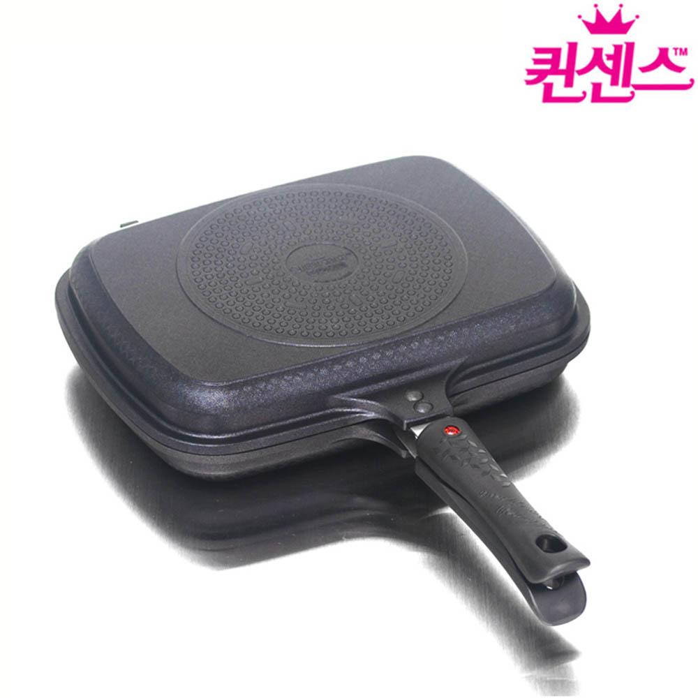 퀸센스 팬 올비아 인덕션IH 티타늄 양면팬 특대