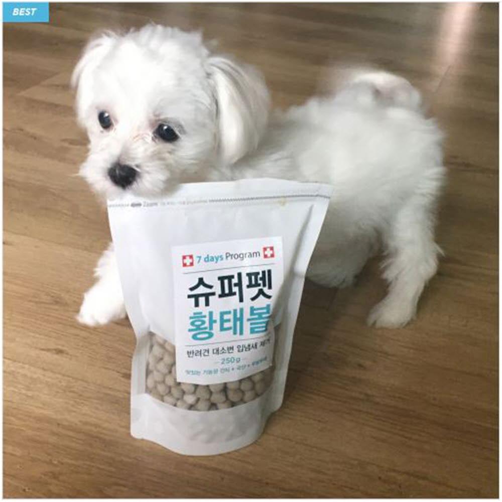 슈퍼펫 황태볼 250g (애견간식 강아지 기능성 간식 입냄새 대소변냄새 제거)