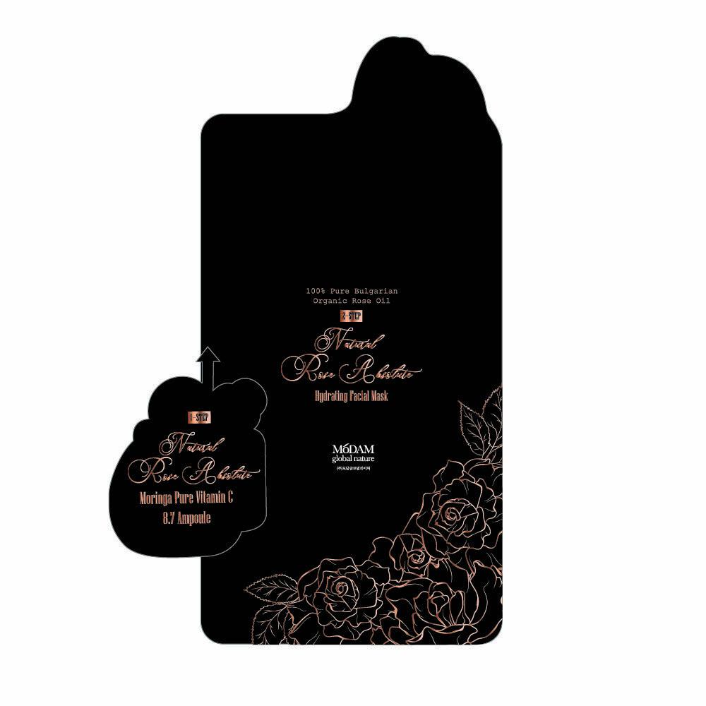 모담 2Step 로즈 앱솔루트 마스크 5SET ( 앰플,팩 각 5개씩 )