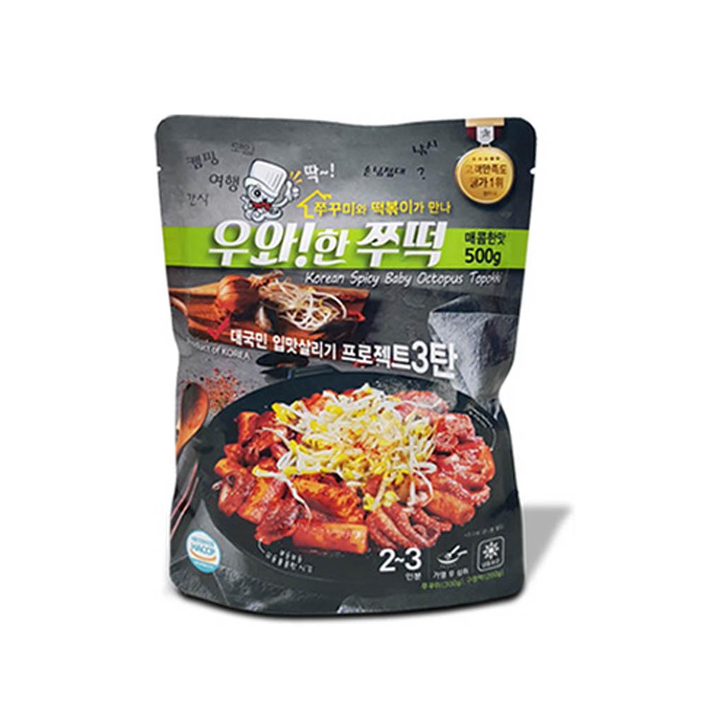 COCO Market,우와한 쭈꾸미 쭈떡 매콤한맛 (쭈꾸미300+구멍떡200)
