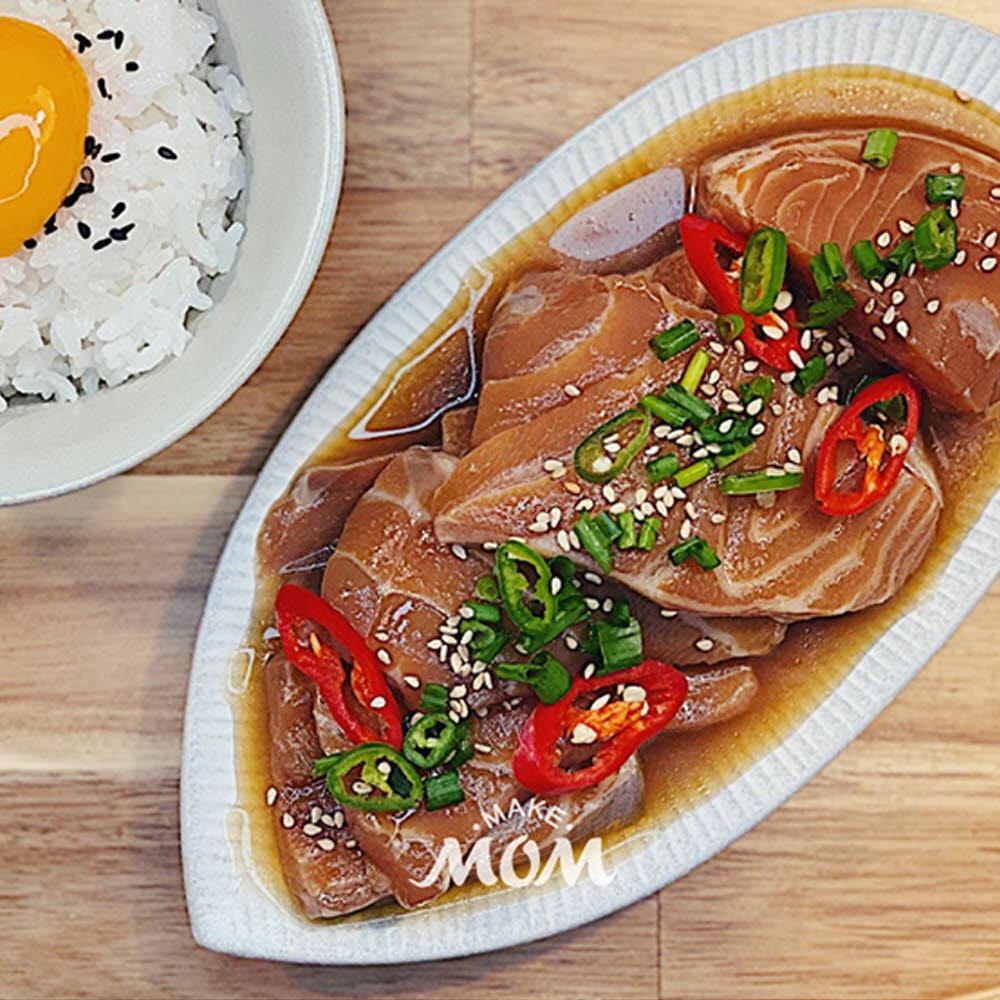 메이크맘 엄마 순살간장연어장(300g) 먹기 편한 연어장