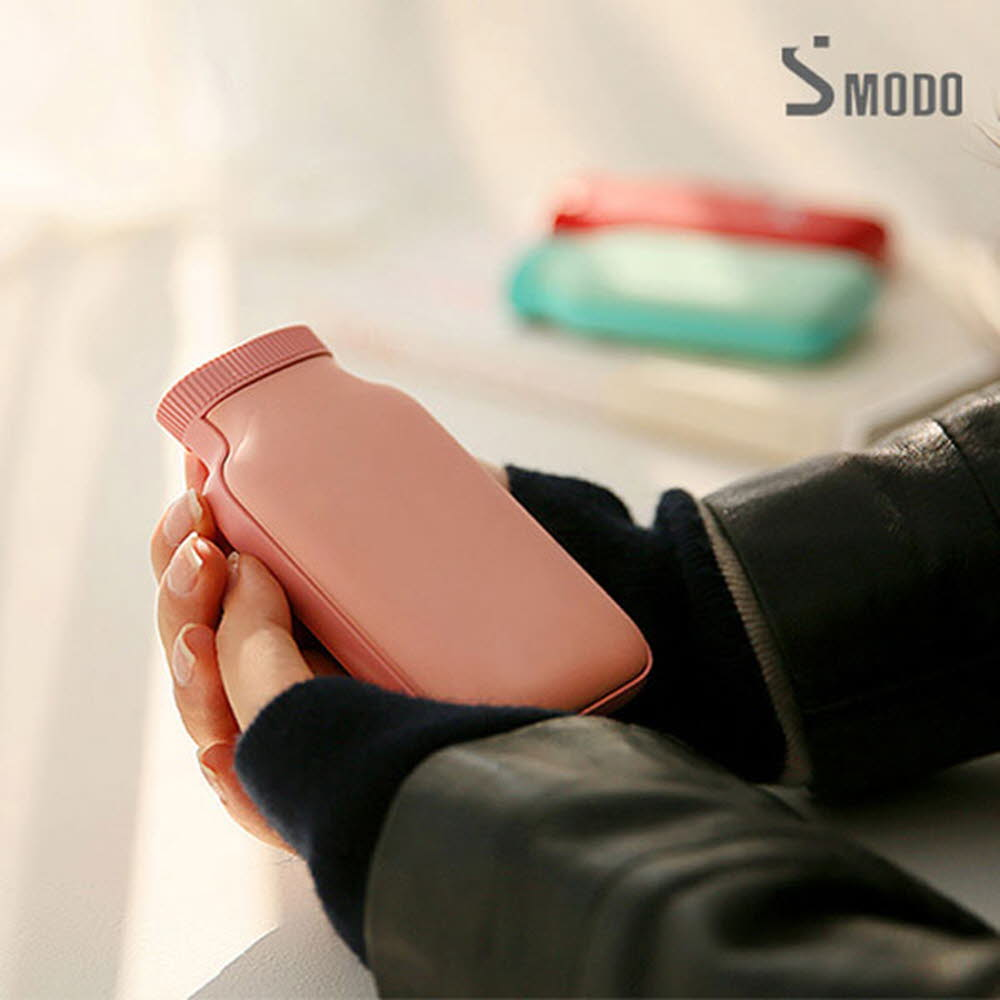 에스모도 양면발열 보틀형 휴대용 손난로 보조배터리5000mah SMODO-285