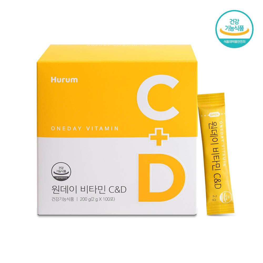 휴럼 원데이 비타민 C&D (2g*100포)