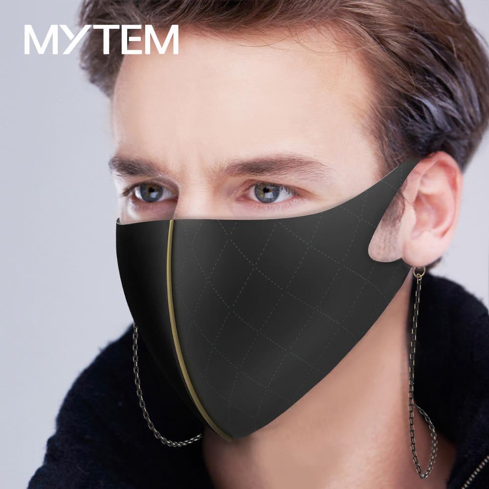 마이템 미엔느 국내제조 향균 패션마스크 + 알러지방지 써지컬 스틸 스트랩 마스크걸이