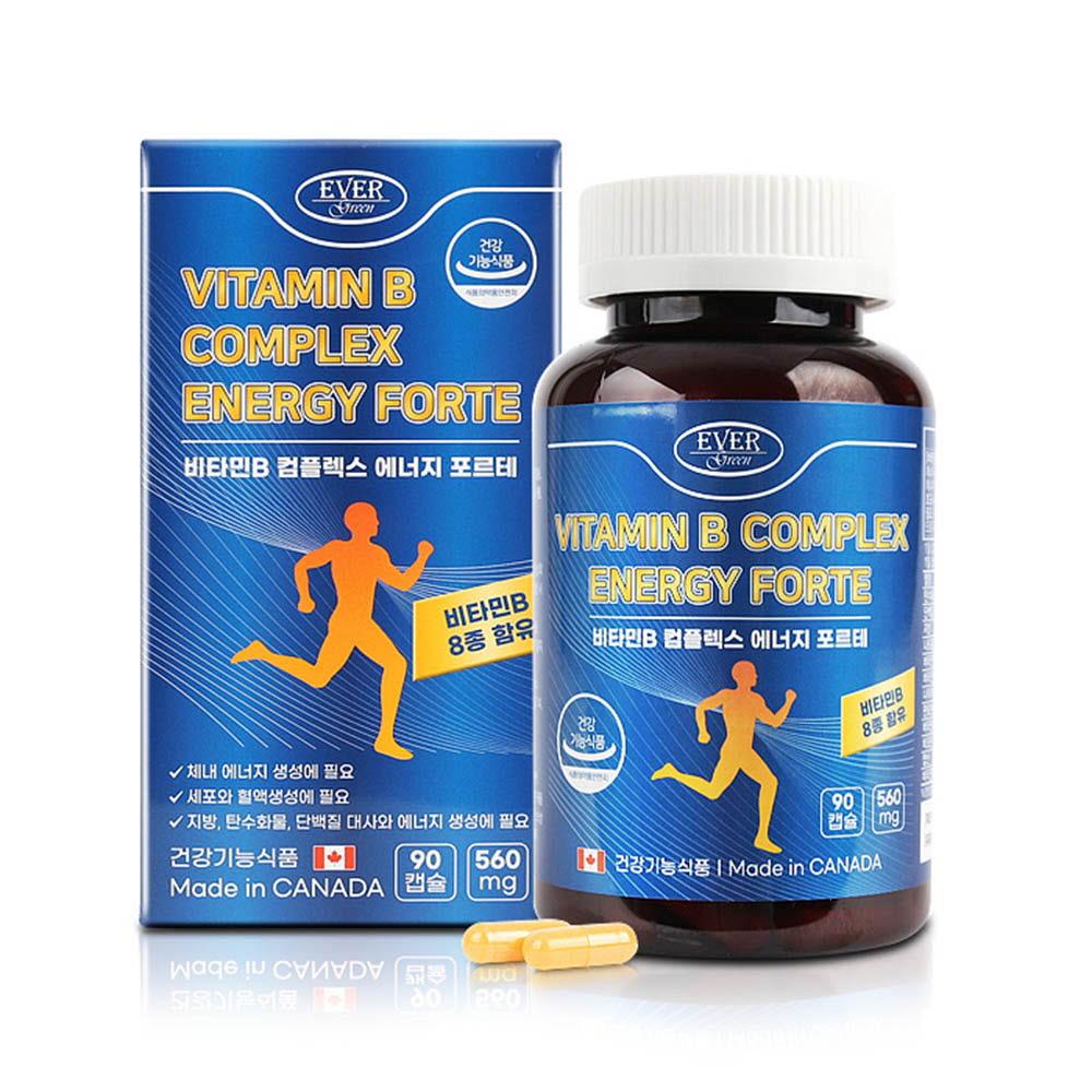 에버그린 비타민B 컴플렉스 에너지 포르테 (560mgX90캡슐)