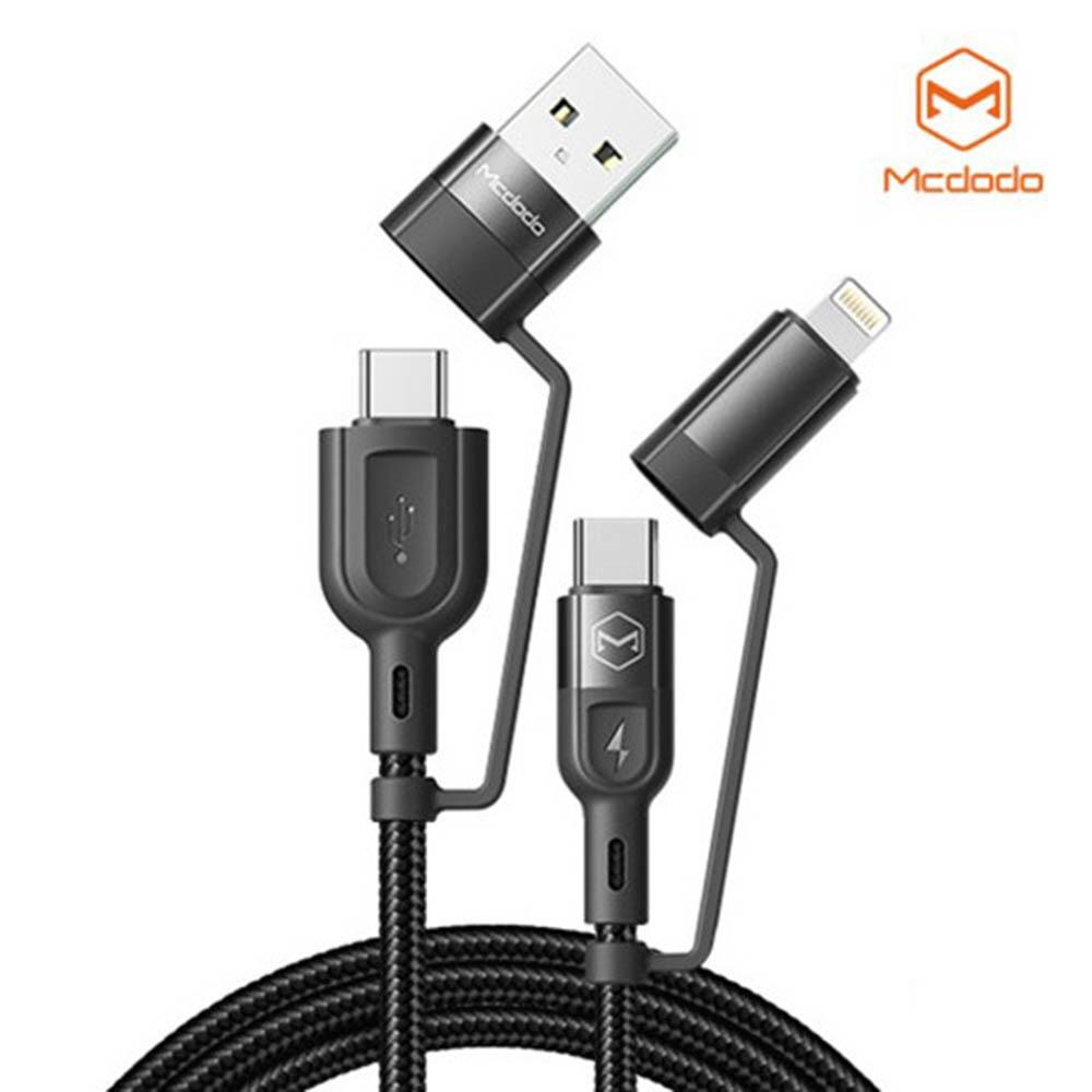맥도도 4in1 멀티 PD 고속충전 케이블 (USB A타입+C타입 to C타입+라이트닝8핀)