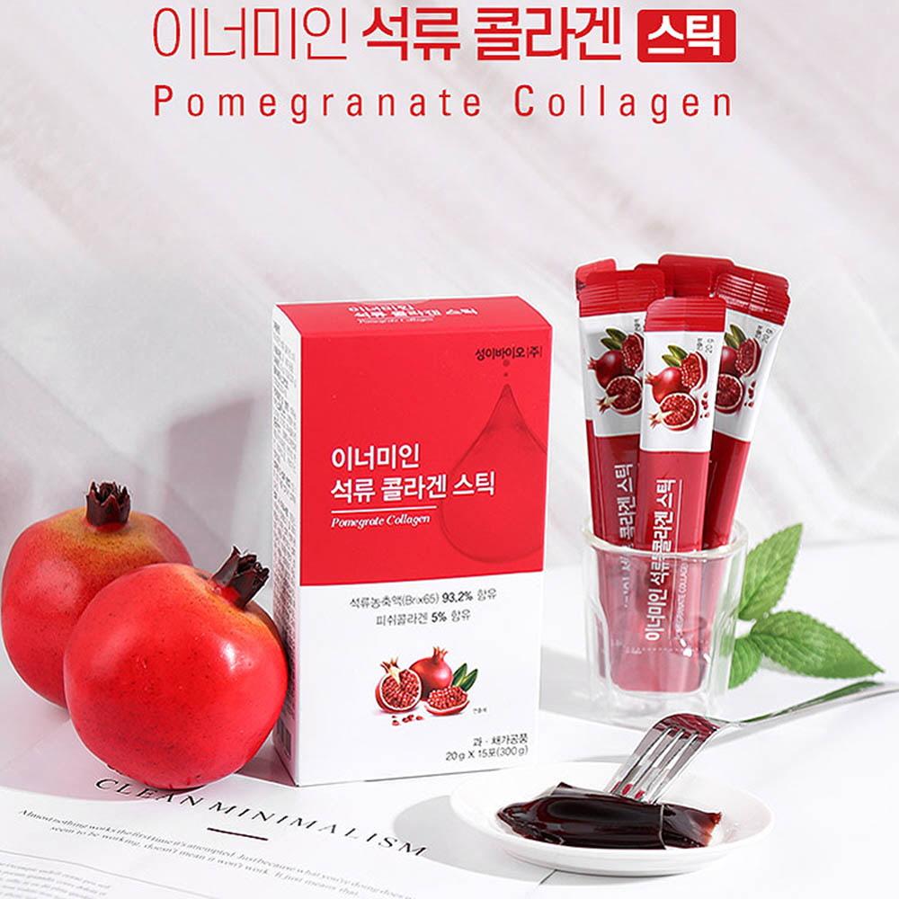 이너미인 석류 콜라겐 스틱 20g (15포*1박스)