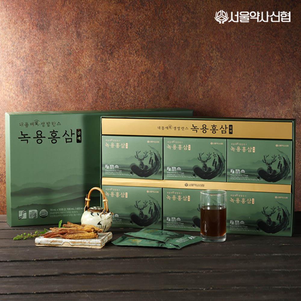 서울약사신협 내몸애생발란스 녹용홍삼 진액 선물세트70ml*30포
