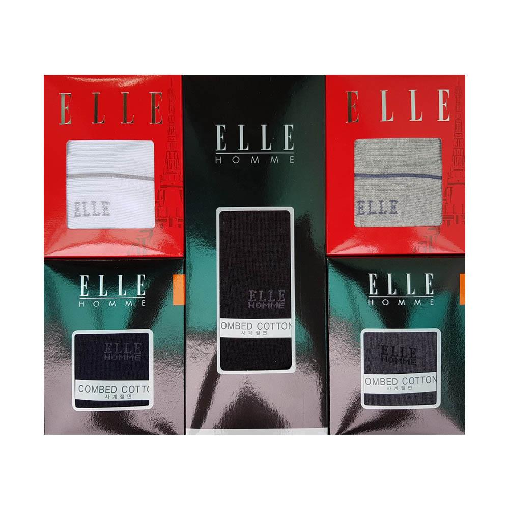 [엘르] 신사,숙녀 혼합 스포츠파일 골프양말 6족세트 EH40996 ES20326
