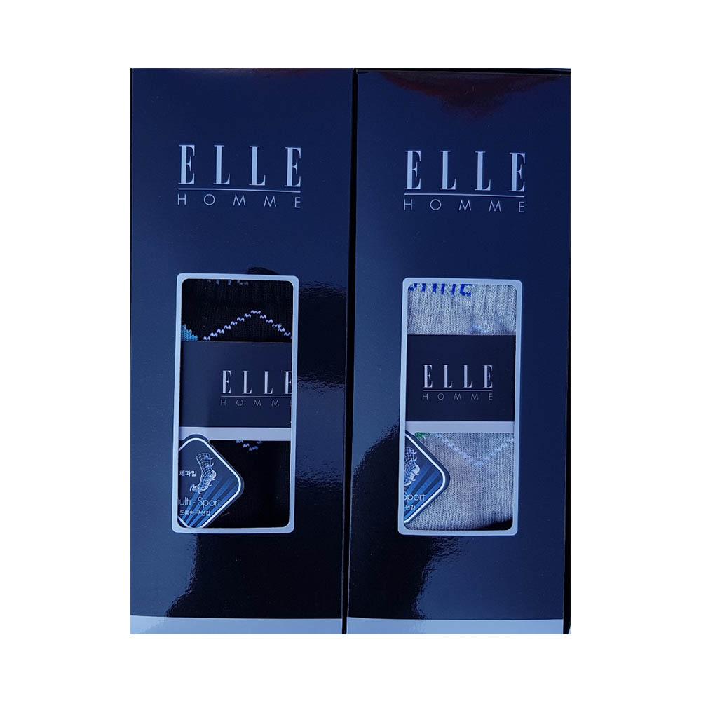 [엘르] 신사 올 스포츠 파일양말 2족 세트 (등산양말) EH40662A