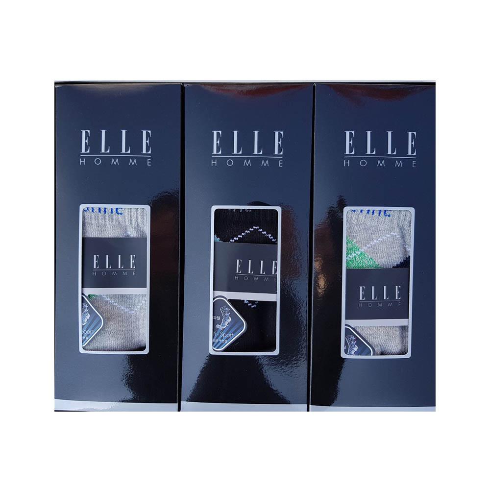 [엘르] 신사 올 스포츠 파일양말 3족 세트 (등산양말) EH40662A