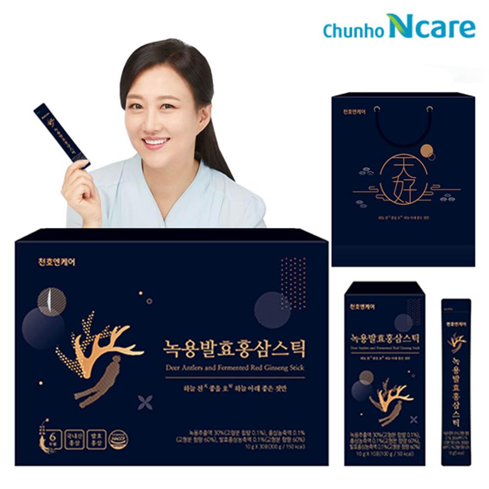 천호엔케어 녹용발효 홍삼스틱 10gx30포+쇼핑백