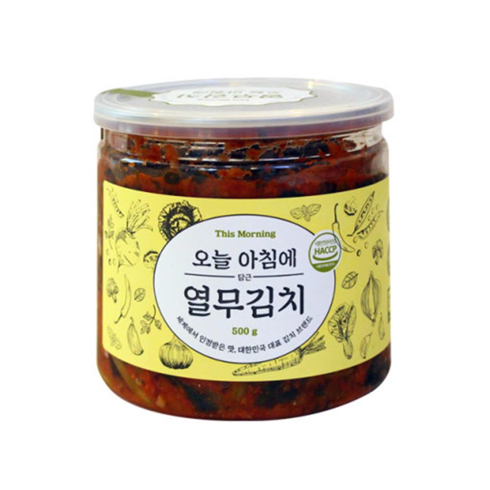 오늘아침에담근 여행용 캔김치 500g 열무김치