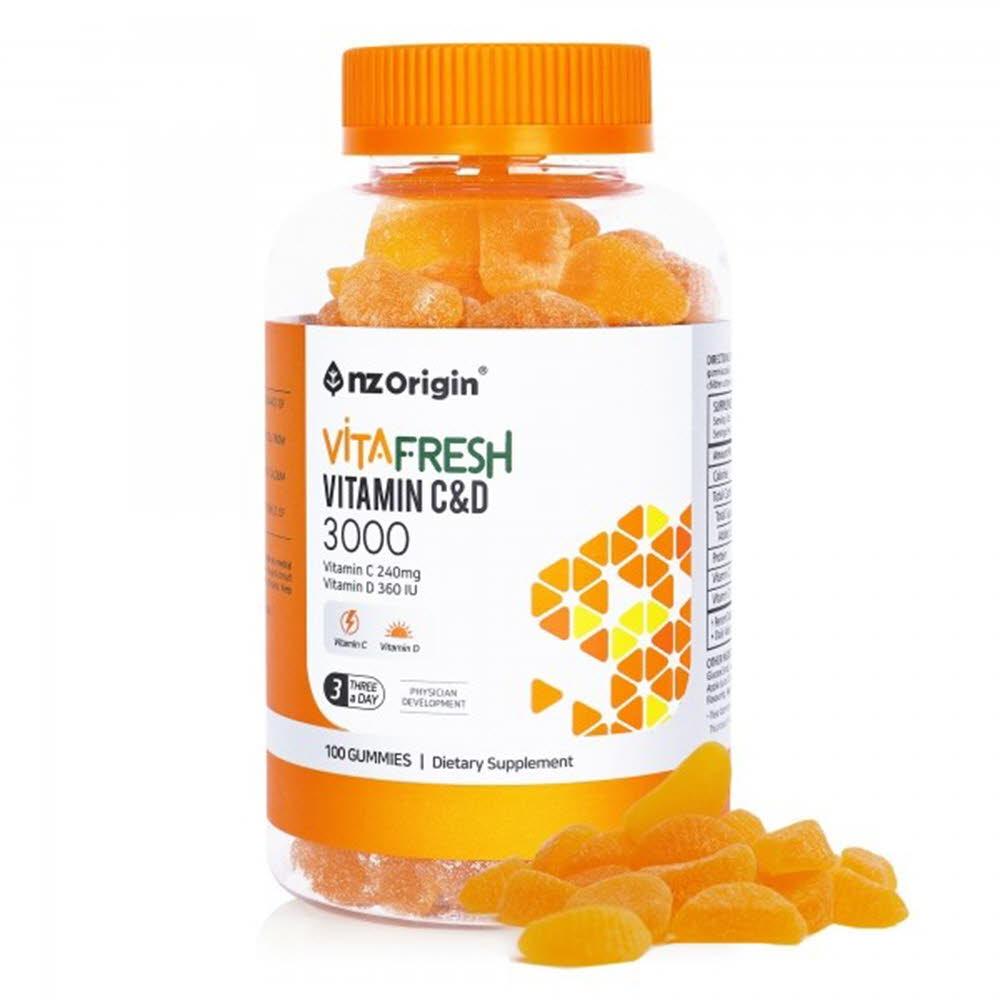 엔젯오리진 비타프레쉬 귤젤리 비타민C&D 3000mg*100구미 (1통)