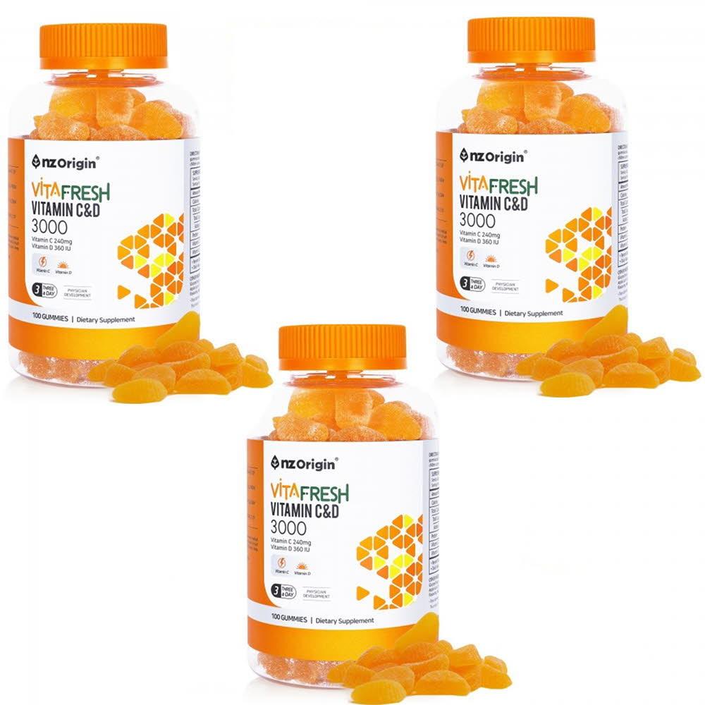 엔젯오리진 비타프레쉬 귤젤리 비타민C&D 3000mg*100구미 (3통)
