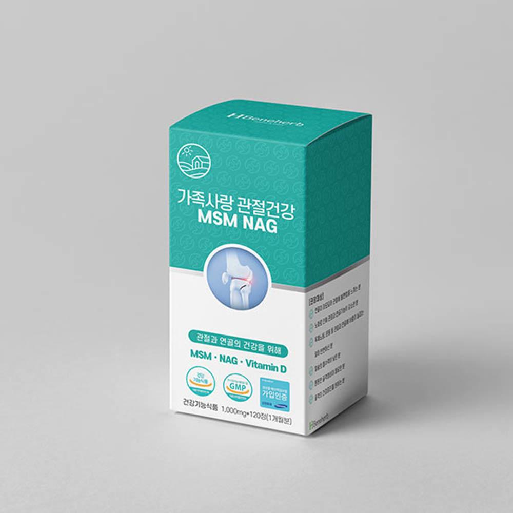 가족사랑 관절건강 엠에스엠(MSM)+비타민D+엔에이지(NAG) 1000mg 120정
