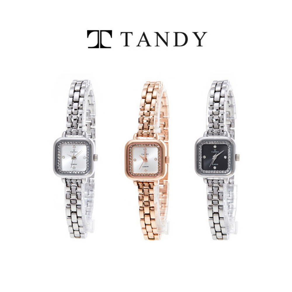 탠디 어썸스퀘어 다이아몬드 메탈여성 시계 T-4032