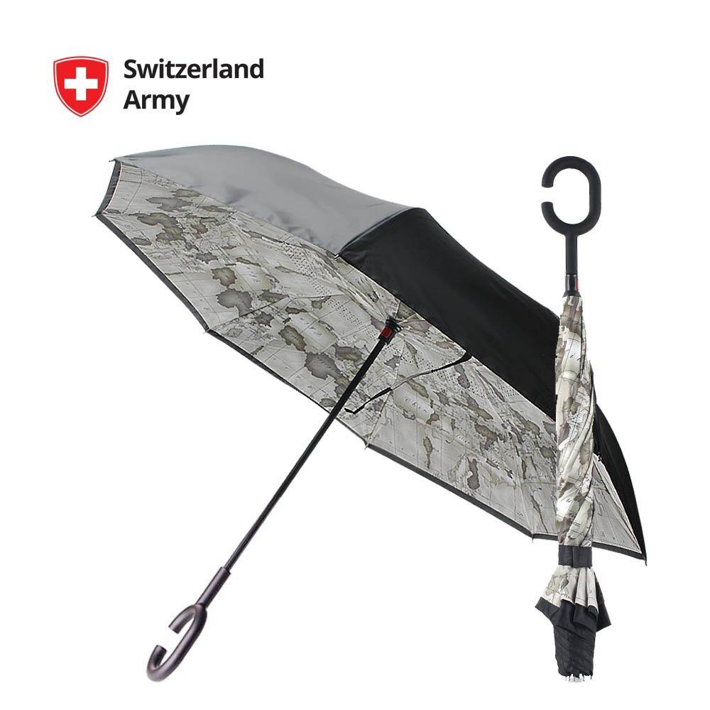 스위칠랜드아미 거꾸로 우산 (월드맵)