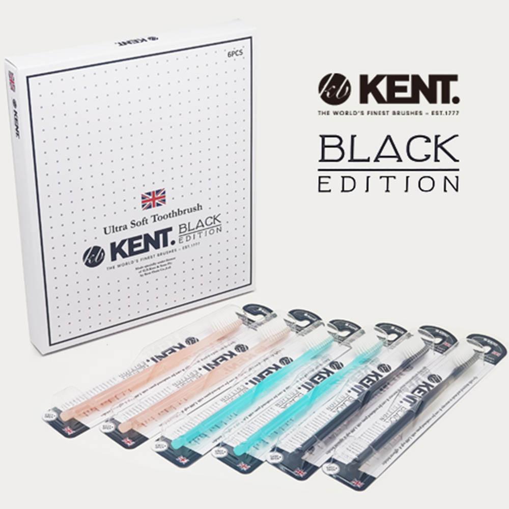켄트 블랙에디션 초극세모 칫솔 6p세트