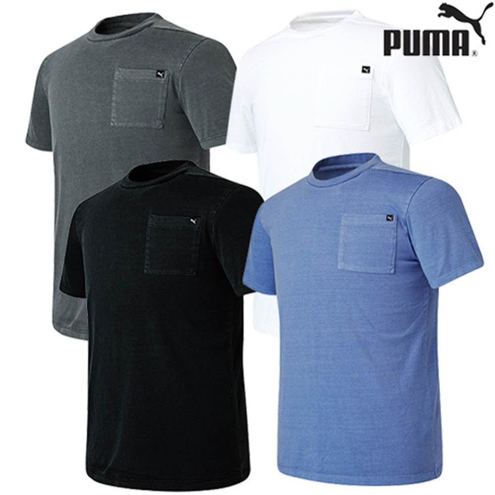 [푸마]★21SS신상★포켓 면 라운드티셔츠(남여공용) PU1201