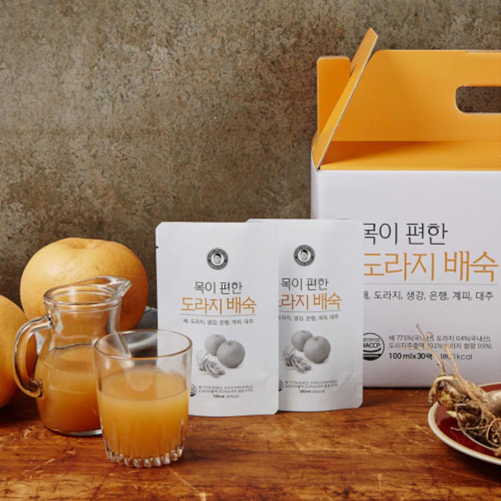 김재식헬스푸드 목이편한 도라지배숙 100ml* 30팩