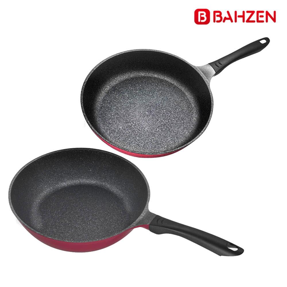 바흐젠 인덕션 28cm 후라이팬 + 궁중팬 2종세트