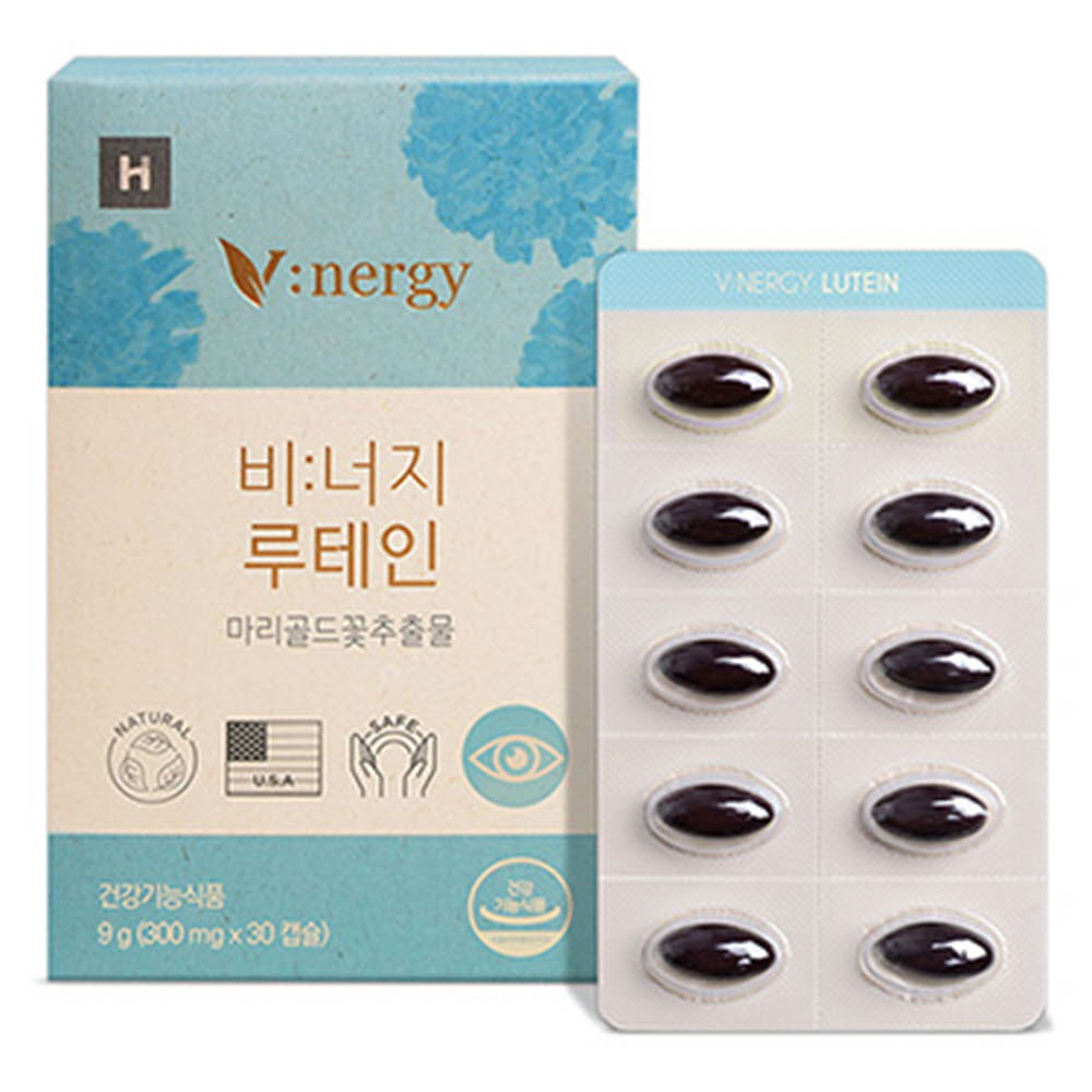 비너지 루테인 눈 건강 영양제 메리골드 식물성 캡슐 1박스 (300mg x 30캡슐)