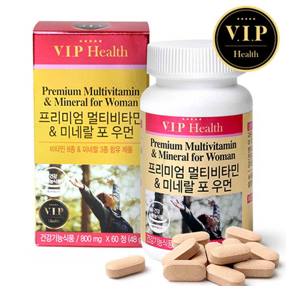 [VIP헬스] 멀티비타민 & 미네랄 포우먼 (800mgx60정) /비타민 8종+미네랄 3종 함유