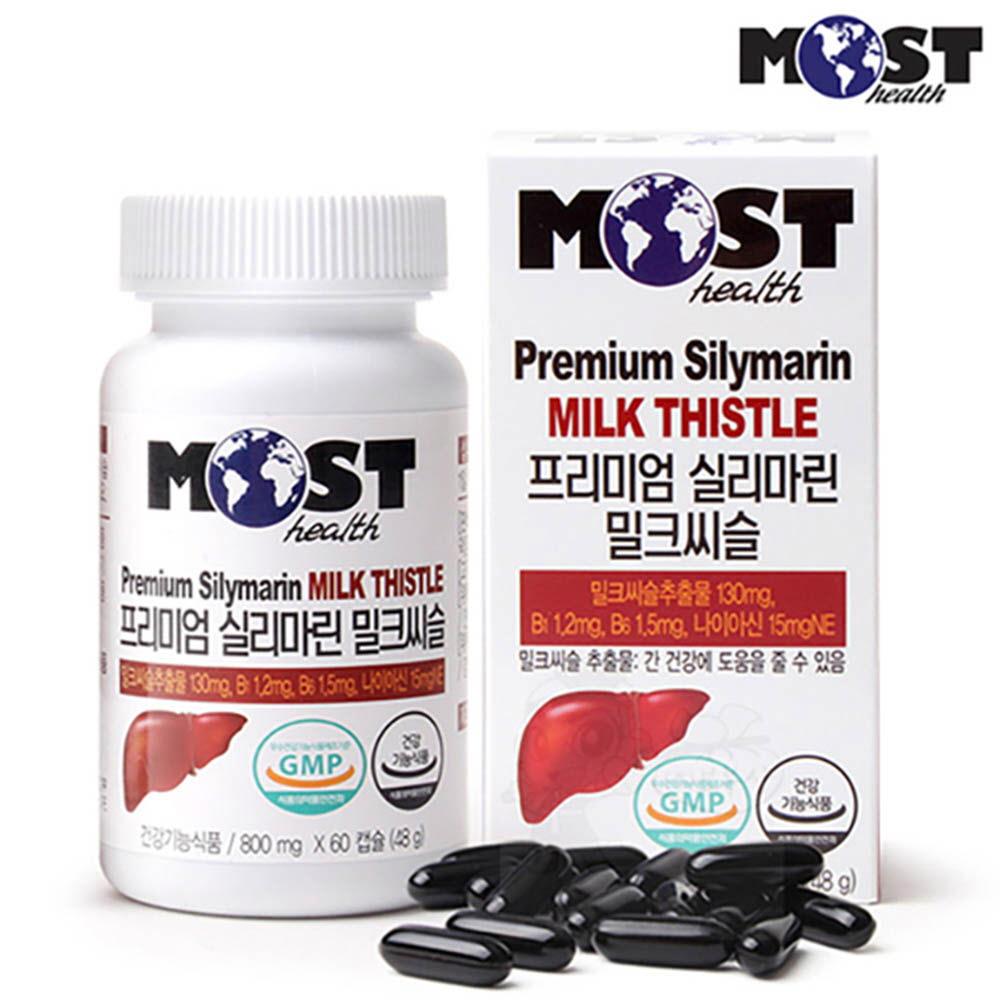 [모스트] 프리미엄 실리마린 밀크씨슬 (800mgx60캡슐) /간 건강에 도움