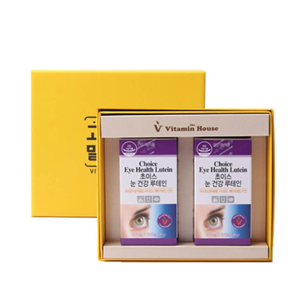 [비타민하우스] 초이스 눈건강 루테인 2병세트 (60캡슐x2병)