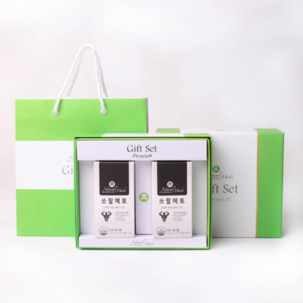 네츄럴메이드 남성용 선물세트 1호 [쏘팔메토 (60캡슐x2병)] /쇼핑백