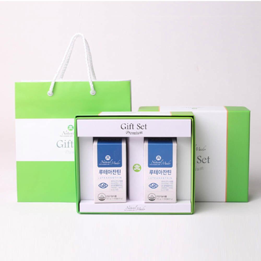 네츄럴메이드 눈건강 선물세트 1호 [루테아잔틴 (60캡슐x2병)] /쇼핑백