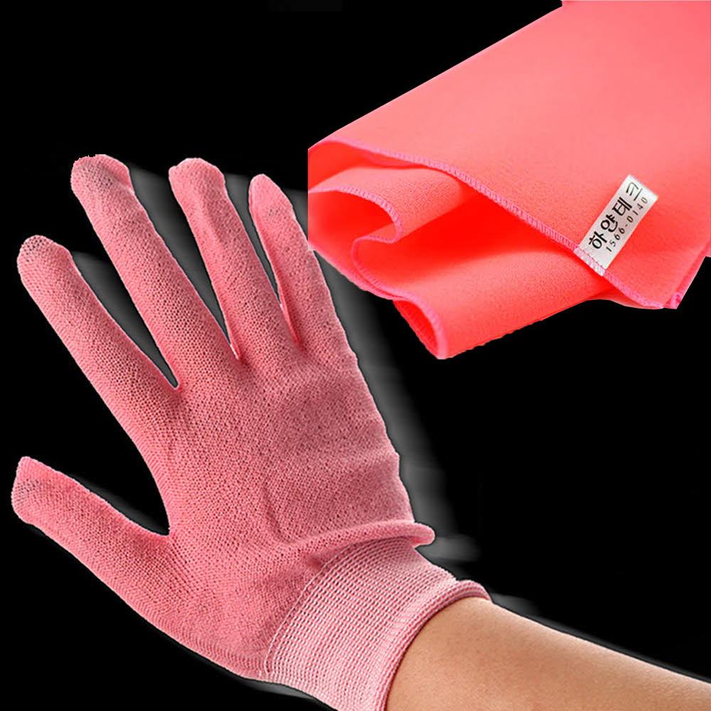 떄장갑 핑크+때타올 핑크