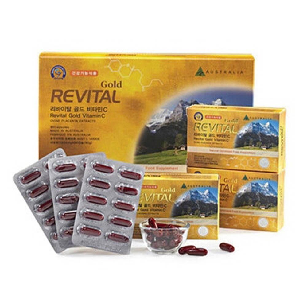 [리바이탈] 골드 비타민C 양태반캡슐 (1,000mgx90캡슐) /3개월분
