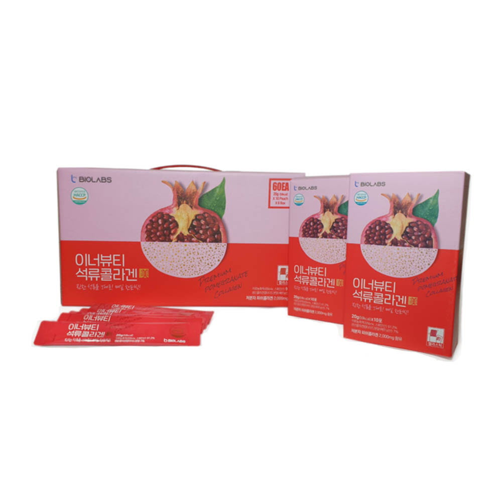 바이오랩스 이너뷰티 석류콜라겐 미 20g X 10포 X 6박스 (총 60포)