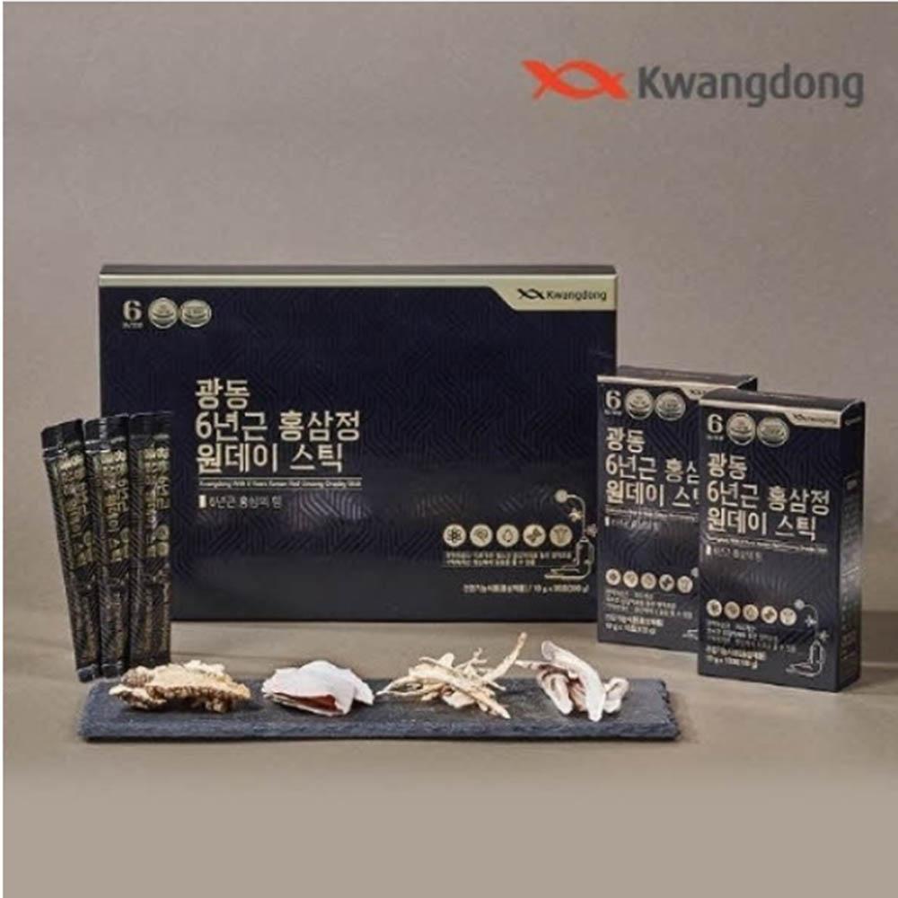 광동 6년근 홍삼 원데이 스틱 30포 (10g*30포) + 쇼핑백