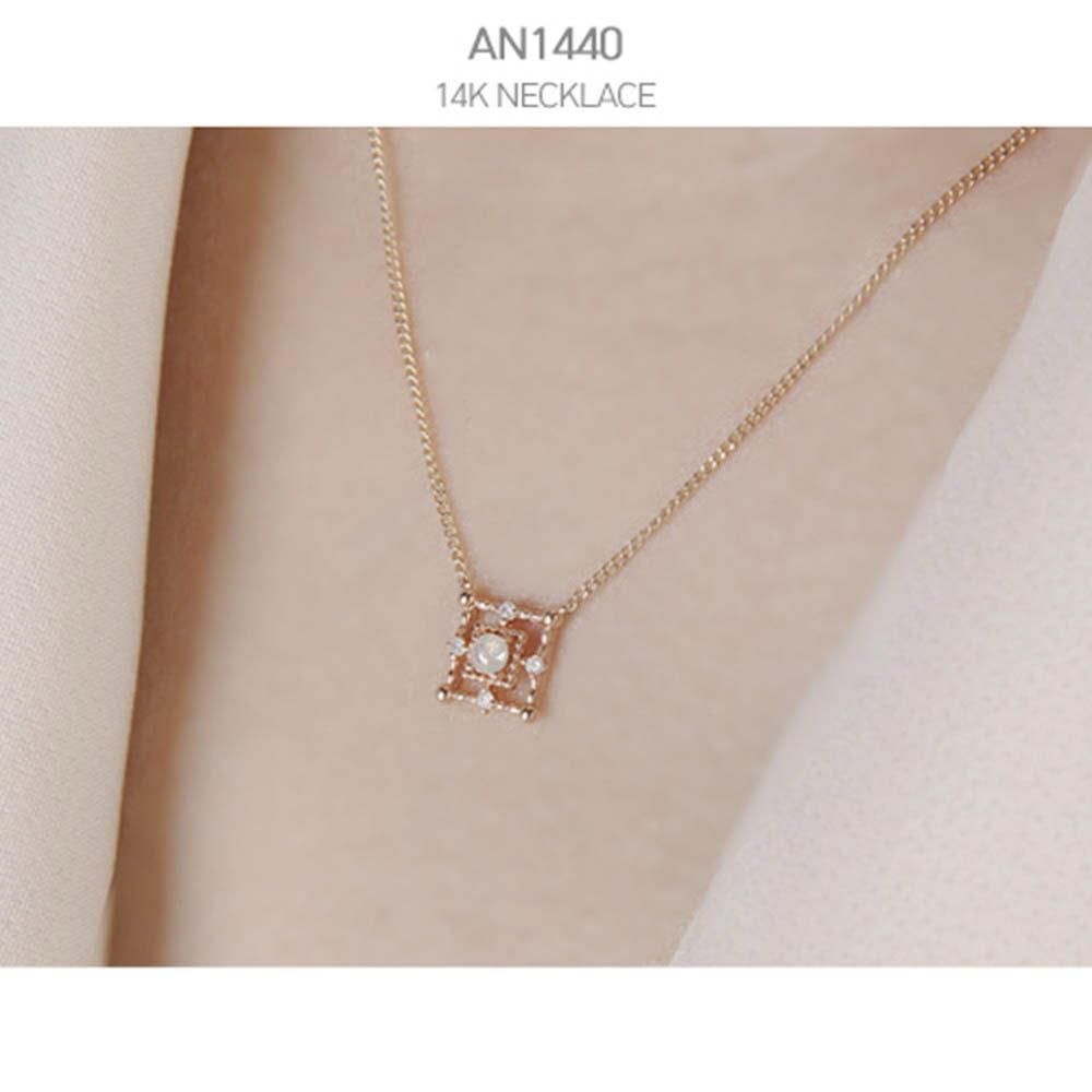 [j.mellow] 비너스 목걸이 14k gold (AN1440)