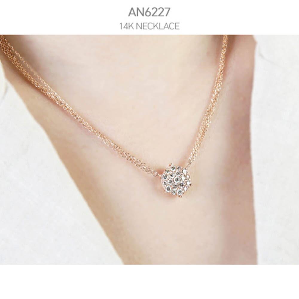 [j.mellow] 데이지 목걸이 14k gold (AN6227)