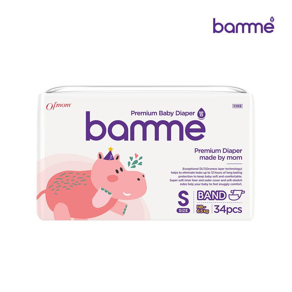 [bamme] 밤 기저귀 밴드형 2단계 소형(34매)