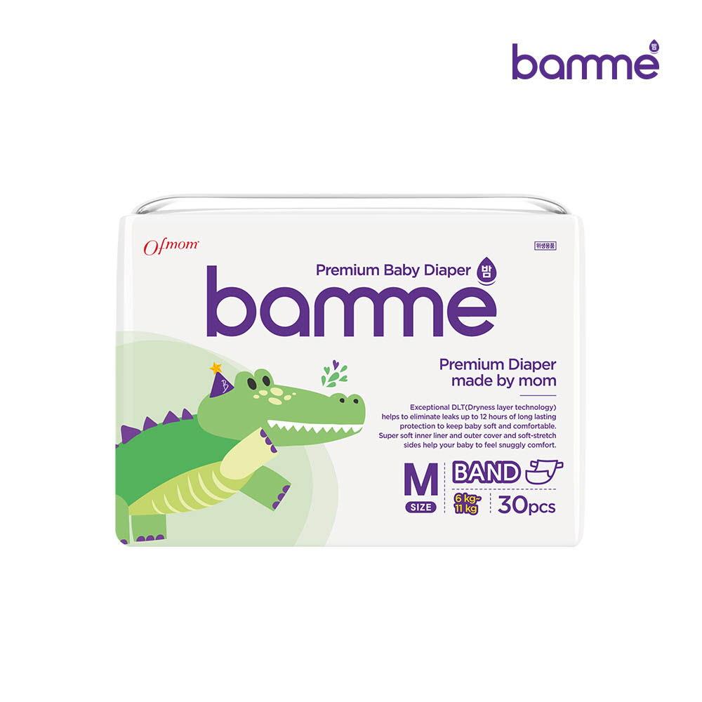[bamme] 밤 기저귀 밴드형 3단계 중형(30매)