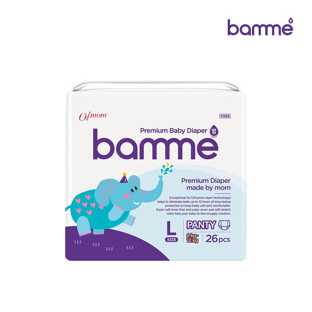 [bamme] 밤 기저귀 팬티형 4단계 대형(26매)