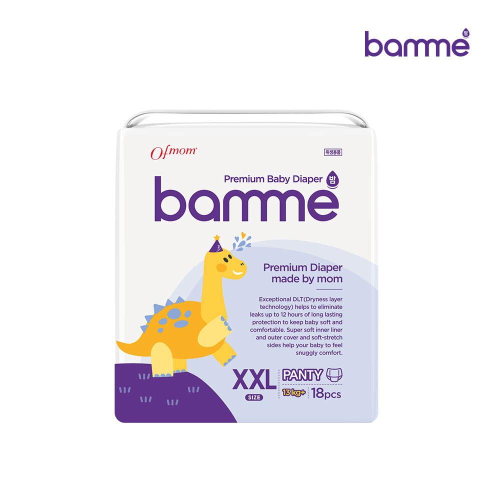 [bamme] 밤 기저귀 팬티형 6단계 점보형(18매)