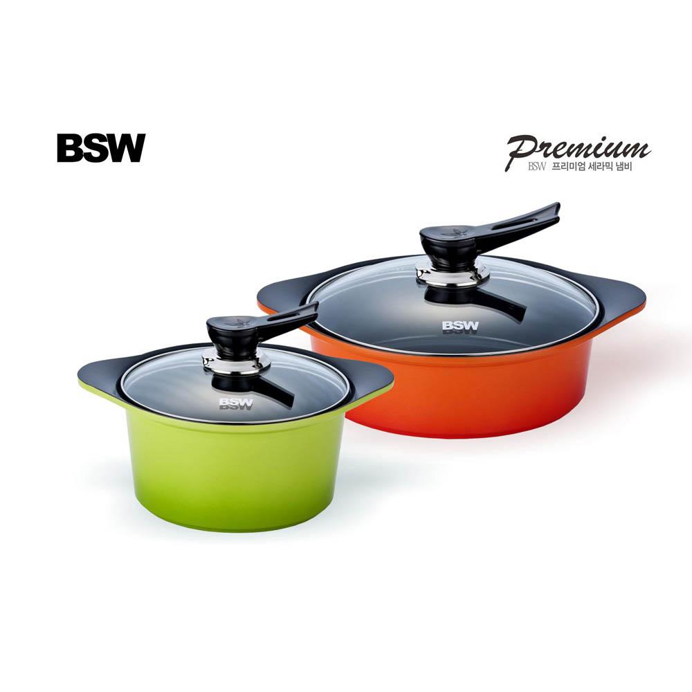 [BSW] 프리미엄 세라믹냄비 2종세트-B형(양수20cm, 전골24cm)