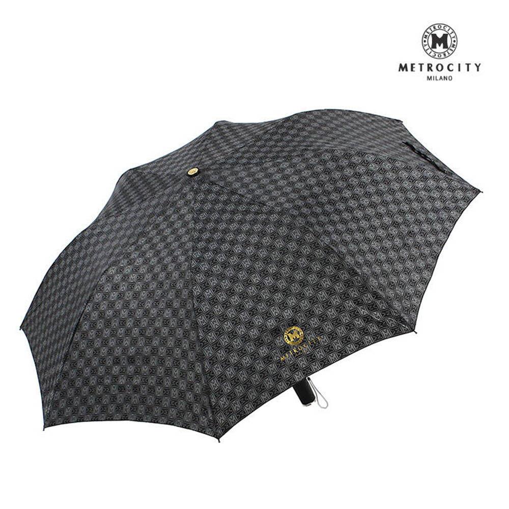 메트로시티 M나염 고급손잡이 2단 반자동 우산 MCS-004