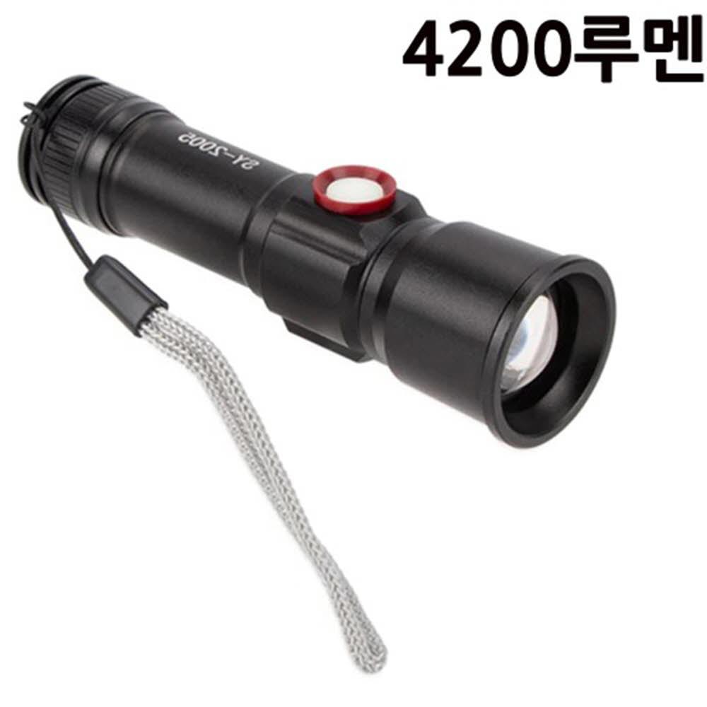 XHP60칩 LED 미니 줌라이트 랜턴 손전등 후레쉬 4200루멘 SY2005 아X