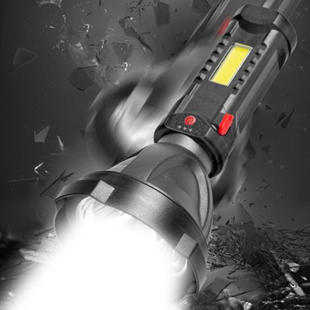 P500 LED 충전식 손전등 후레쉬 서치라이트 COB 멀티 랜턴 W510 아X