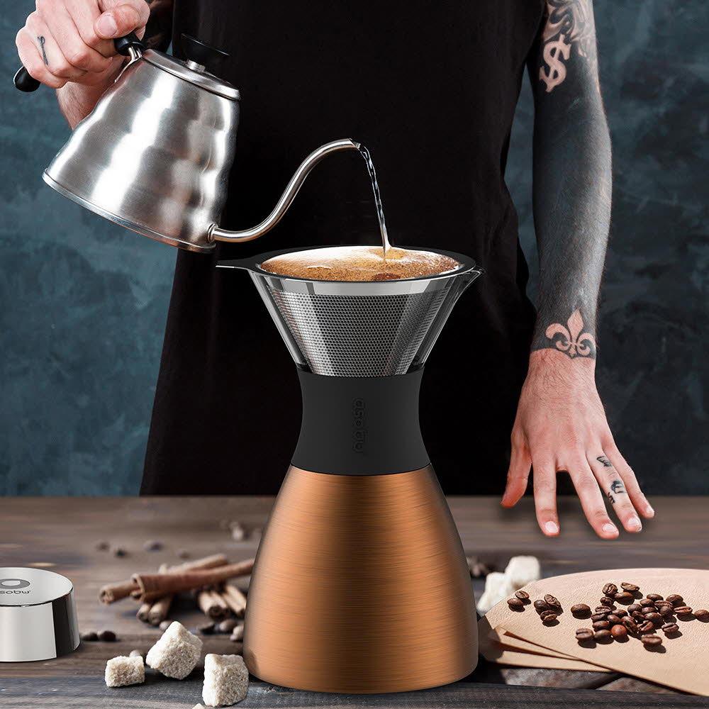 아소부 푸어오버 커피메이커 코퍼(PO300-COPPER/BLACK)