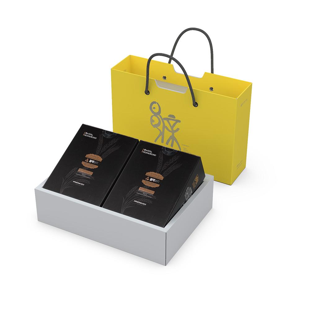금관 블랙보리 진액 흑누리카노 파우치 12개입 x 2박스 선물세트