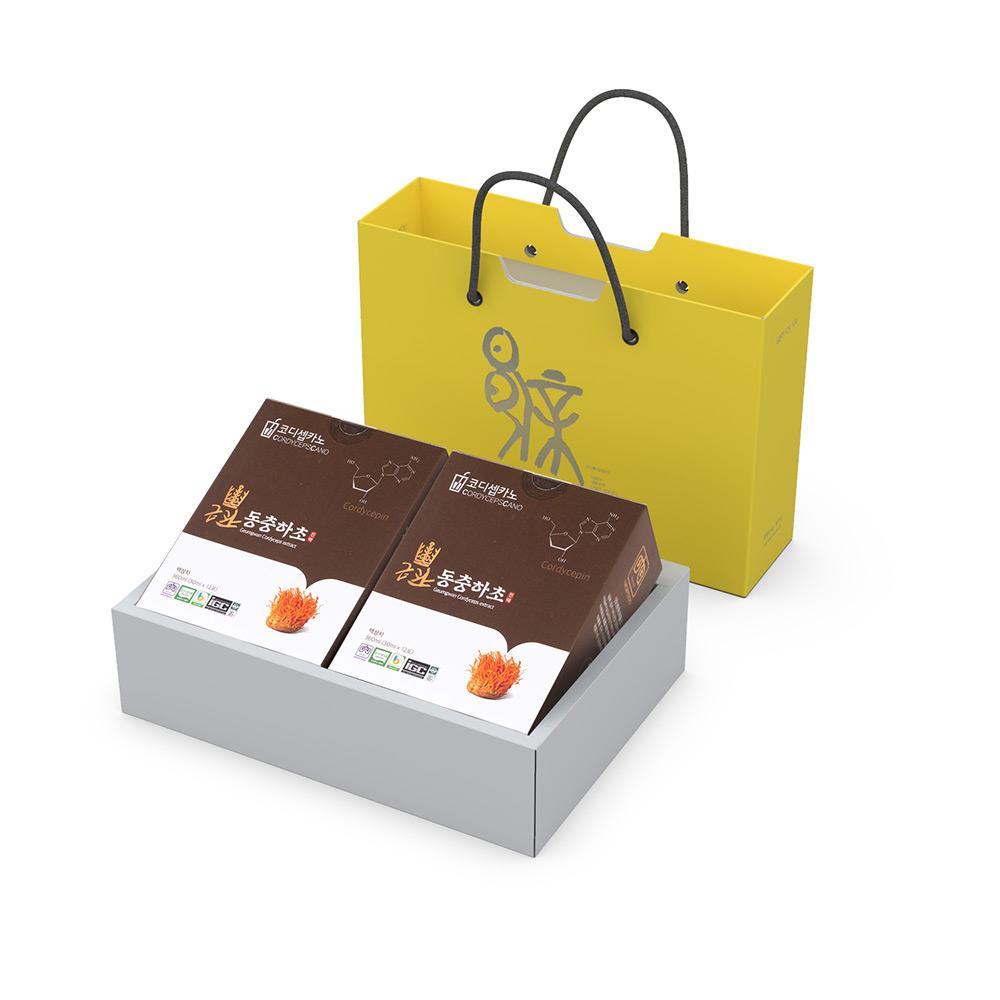 금관 동충하초 진액 파우치 12개입 x 2박스 선물세트