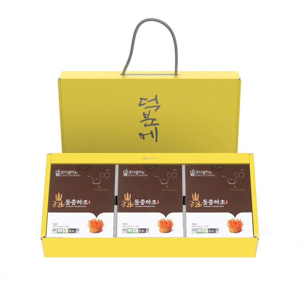 금관 동충하초 진액 파우치 12개입 x 3박스 선물세트
